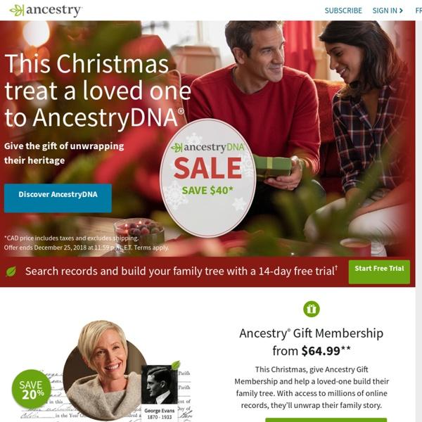 Genealogy, Family Trees & Family History Records