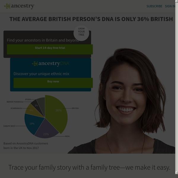 Genealogy, Family Trees & Family History Records at Ancestry.co.uk