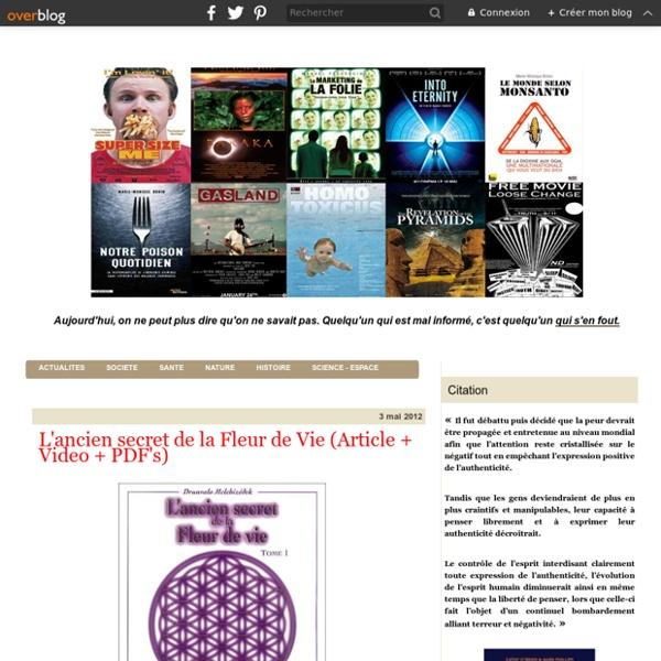 L'ancien secret de la Fleur de Vie (Article + Video + PDF's