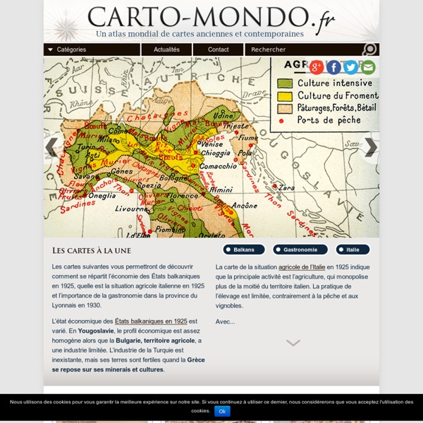 Un atlas mondial de cartes anciennes et contemporaines