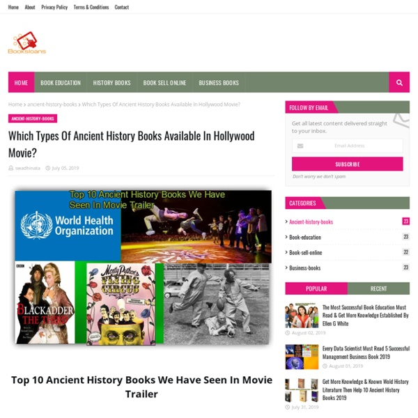 Which Types Of Ancient History Books Available In Hollywood Movie?
