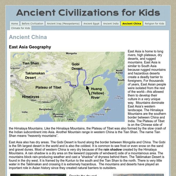 Ancient Civilizations for Kids.China 2 clicks
