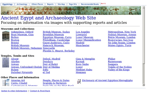 Ancient Egypt and Archaeology Web Site
