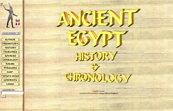 ANCIENT EGYPT - History & Chronology