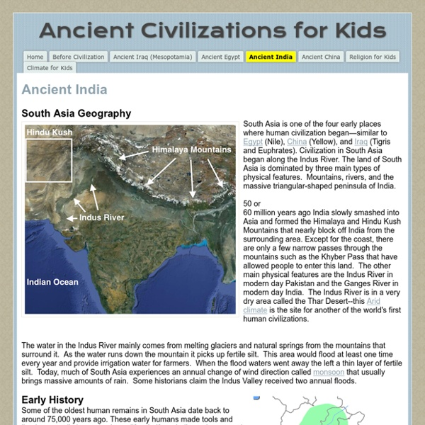 Ancient India - Ancient Civilizations for Kids