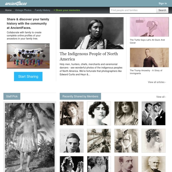 AncientFaces.com: History told through photos, people, and genealogy