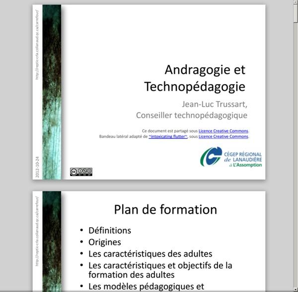 Andragogie et technopédagogie (CA)