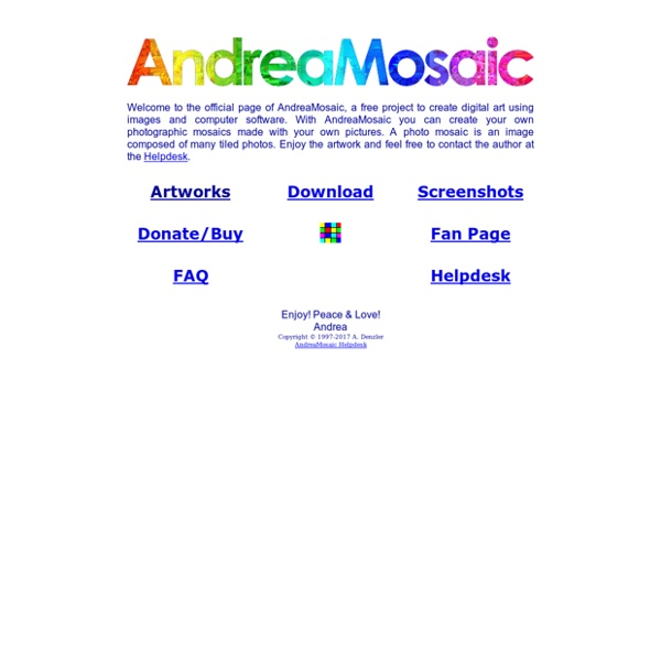 AndreaMosaic Home Page