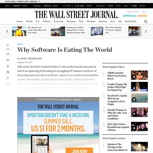 Why Software Is Eating the World