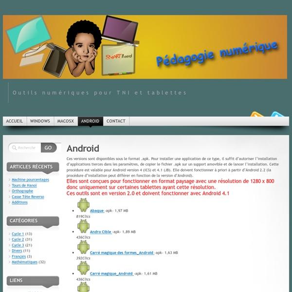 Applis Android / pédagogie numérique