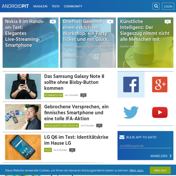 Android Apps, Tests, News Blog und Forum - AndroidPIT