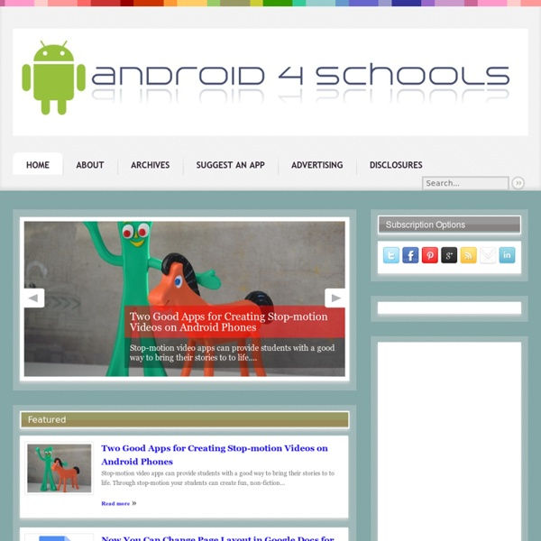 Apps and Devices for Schools