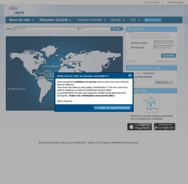 Cartographie des antennes radio (AFNR)