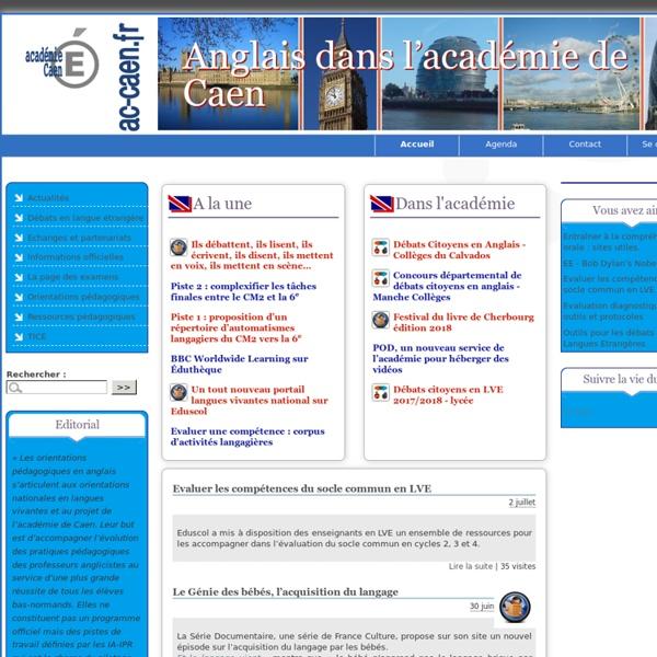 Site académique anglais - Caen