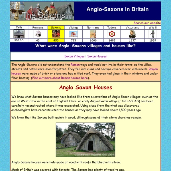 Anglo Saxons Houses and Saxon villages