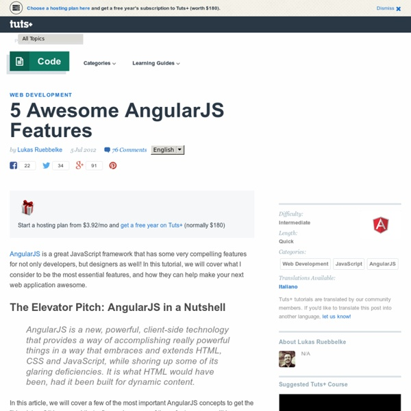 5 Awesome AngularJS Features