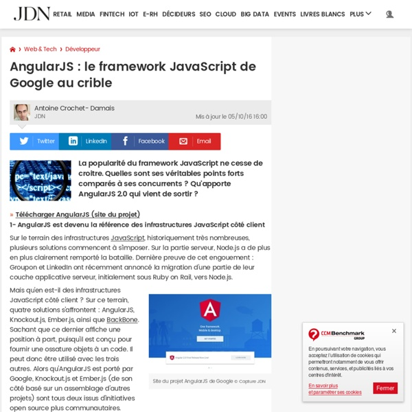 AngularJS : le framework JavaScript de Google au crible