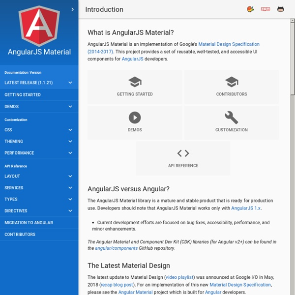 Angular Material - Introduction