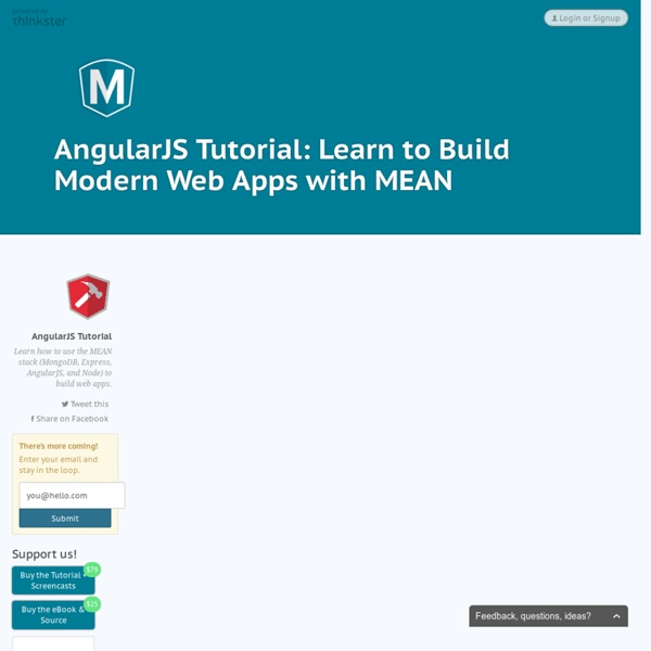 AngularJS Tutorial: Learn to Build Modern Web Apps with MEAN - Thinkster