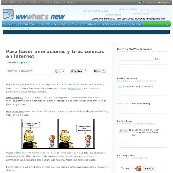 Para hacer animaciones y tiras cómicas en Internet