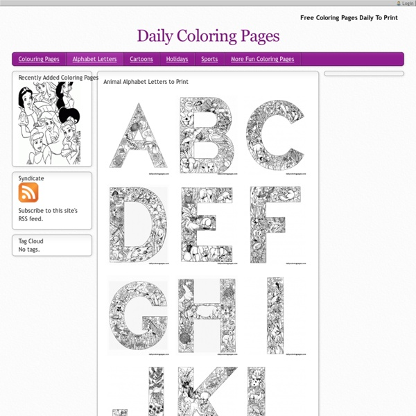 Animal Alphabet Letters To Print Free Coloring Pages Daily