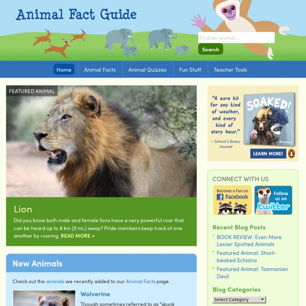 animal facts coloring pages