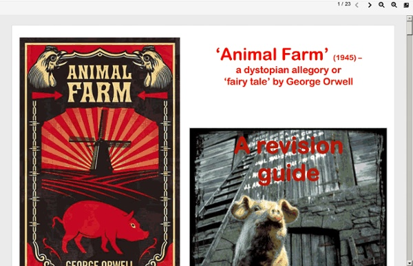 animal farm by george orwell representation Napoleon eventually becomes the tyrant of animal farm, which he obtains through his ruthlessness and cunning character animal farm by george orwell.