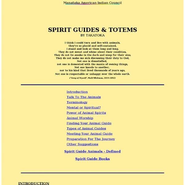 ANIMAL SPIRIT GUIDES