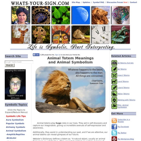 Animal Totems and Animal Symbolism