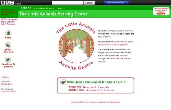 The Little Animals Activity Centre - Homepage