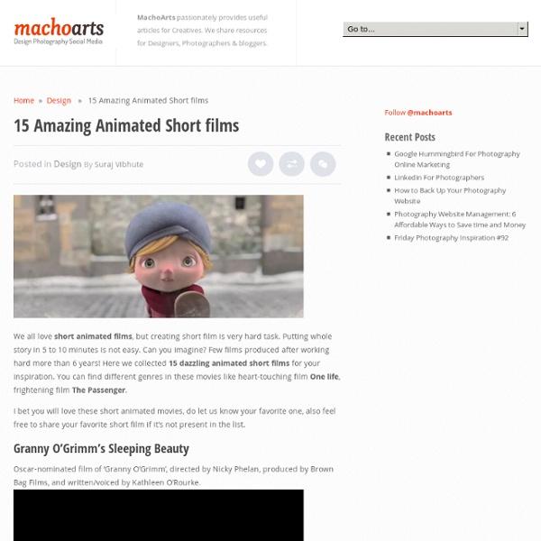 15 Amazing Animated Short films
