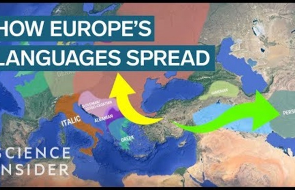 Animated map shows how Indo-European languages may have evolved