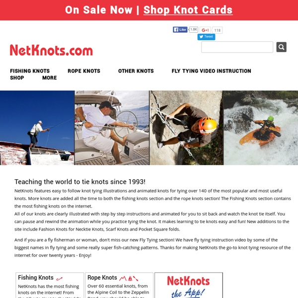 Best fishing knots and rope knots