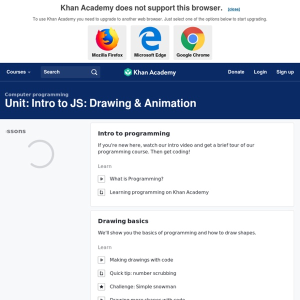 Intro to JS: Drawing & Animation