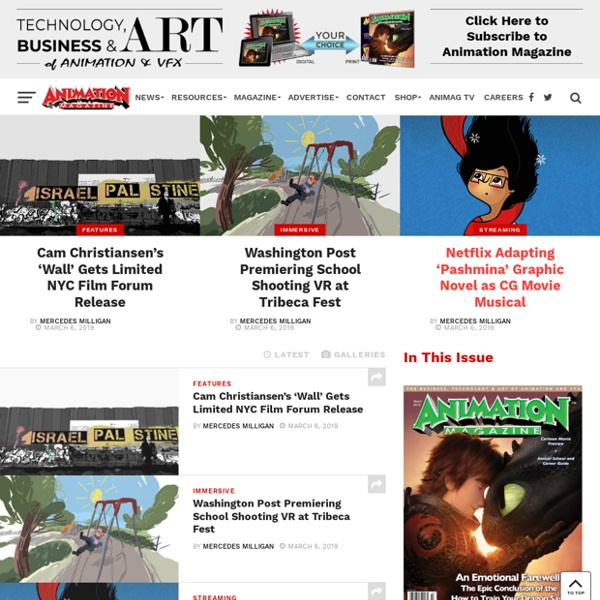 The News, Business, Technology, and Art of Animation