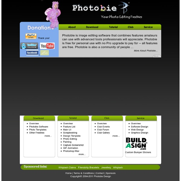 Photobie: free image photo editor, GIF animation, digital scrapbooking software