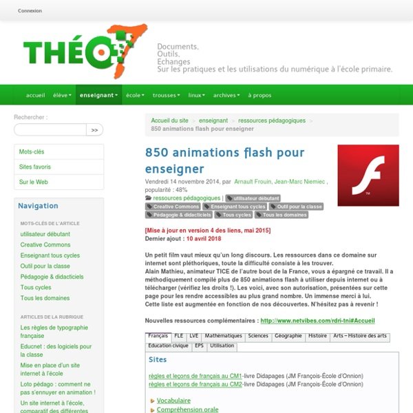 850 animations flash pour enseigner