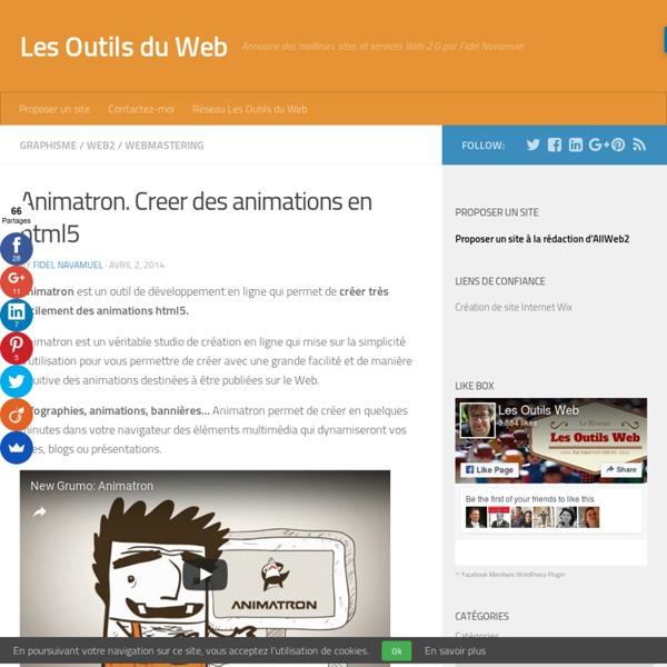 Animatron. Creer des animations en html5