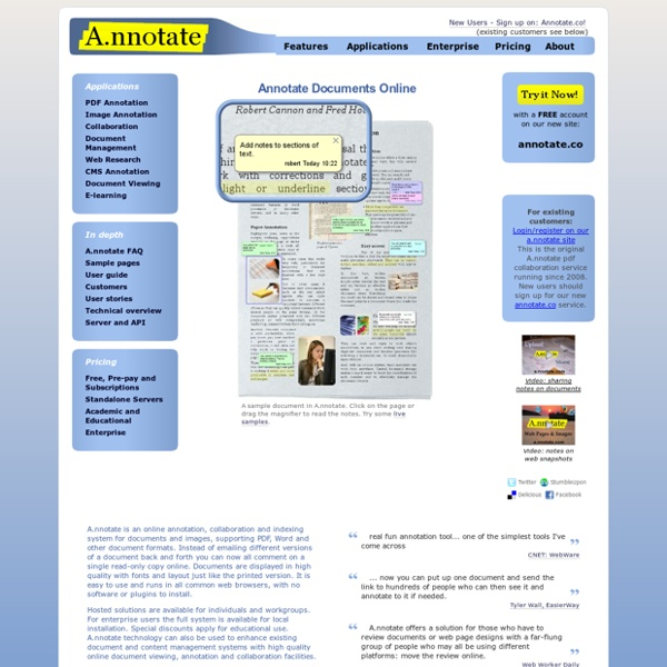 A.nnotate.com: Upload, Annotate, Share. Online document review and collaboration - PDF, Word and HTML