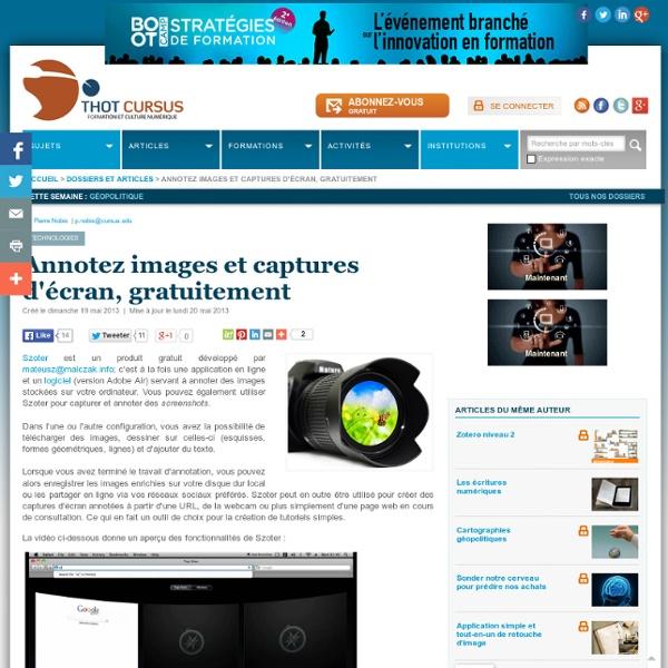 Annotez images et captures d'écran, gratuitement