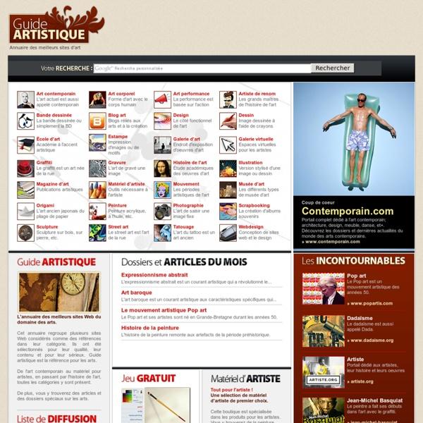 Annuaire Art - annuaire des meilleurs sites Web d'art