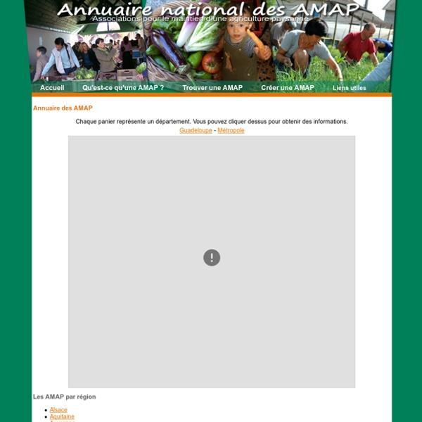 Annuaire des AMAP