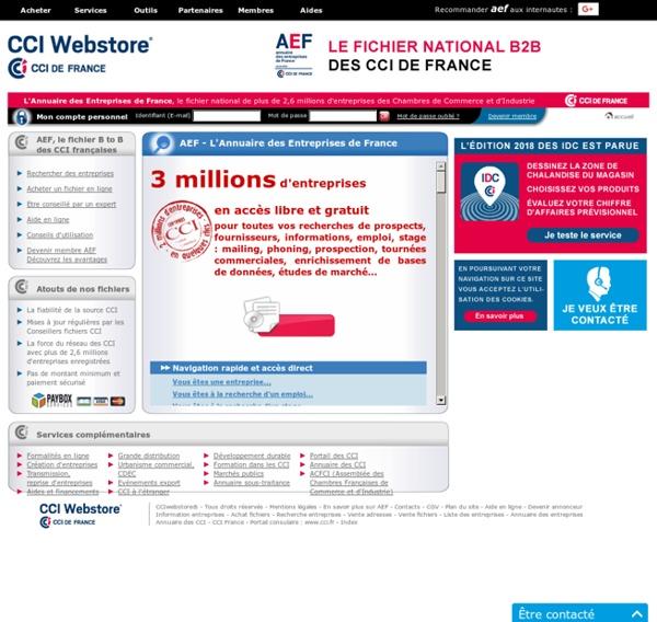 AEF - L'Annuaire des Entreprises de France - Annuaire des Entreprises de France