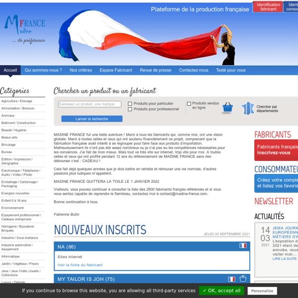 Made in France, acheter français - Madine France