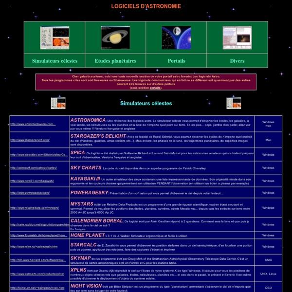 Annuaire de logiciel d' astronomie