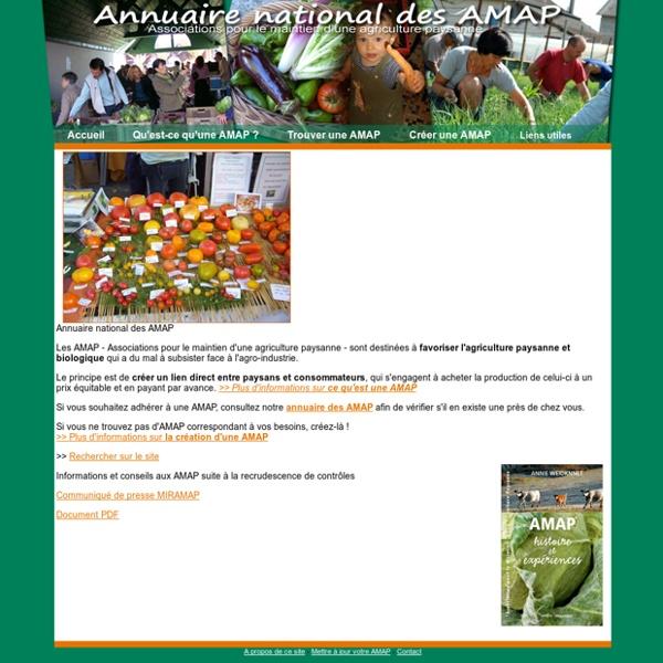 Site national des AMAP