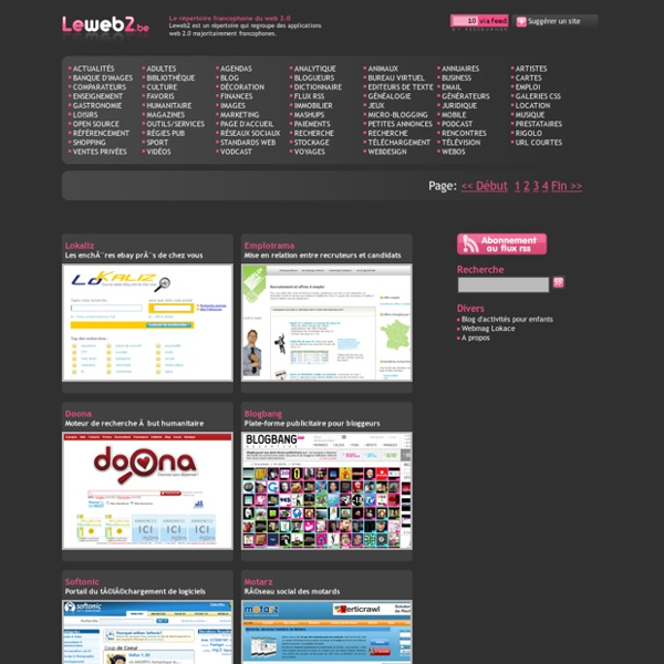 Annuaire de sites et applications web 2.0