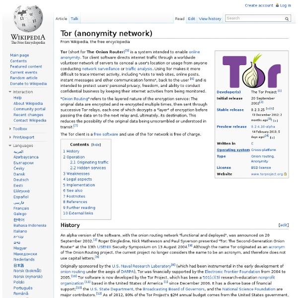 Tor (anonymity network)