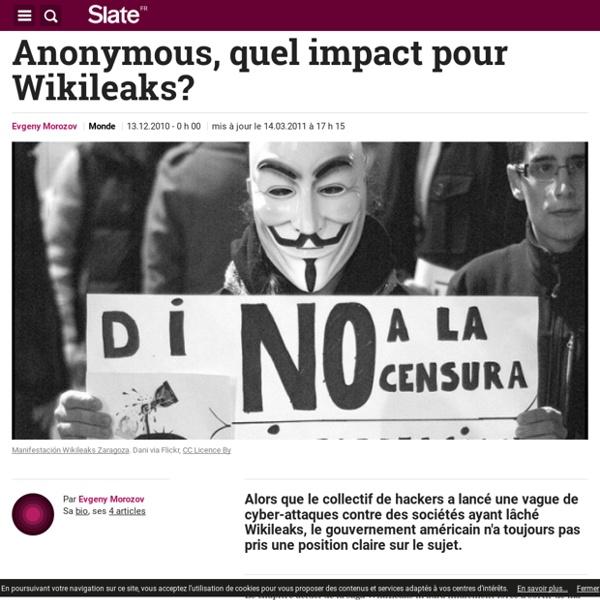 Anonymous, quel impact pour Wikileaks?