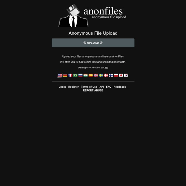 Anonymous File Upload on AnonFiles.com